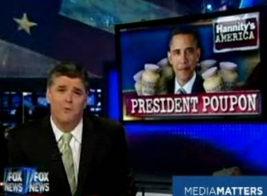 I'd like to poupon Hannity.  Someone hold him down.