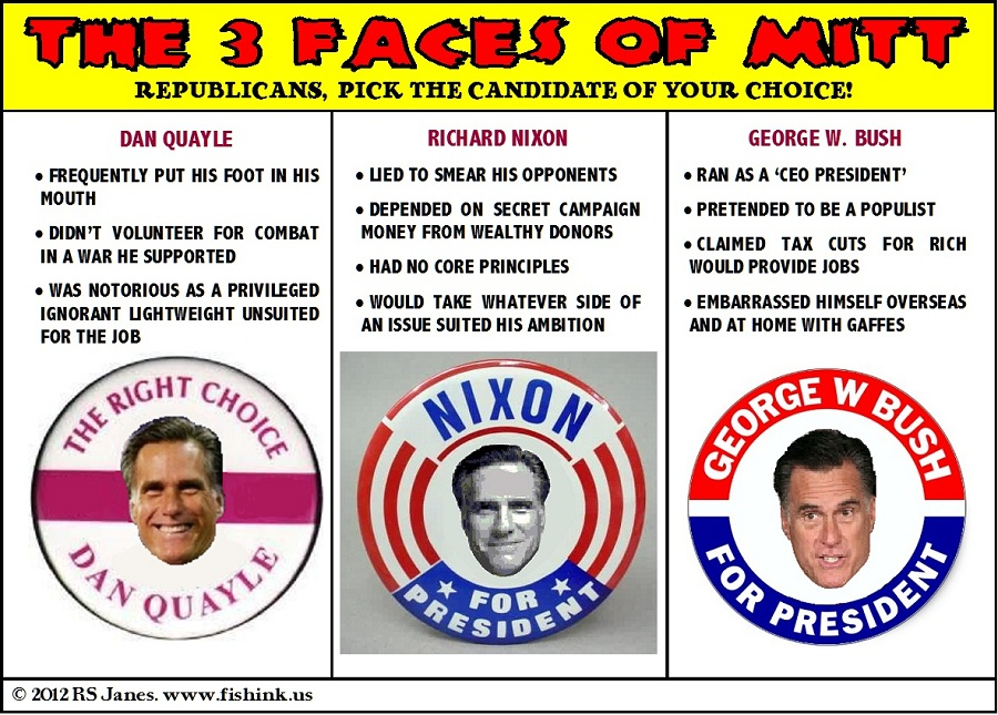The Three Faces of Mitt:  Quayle, Nixon, Bush the Second
