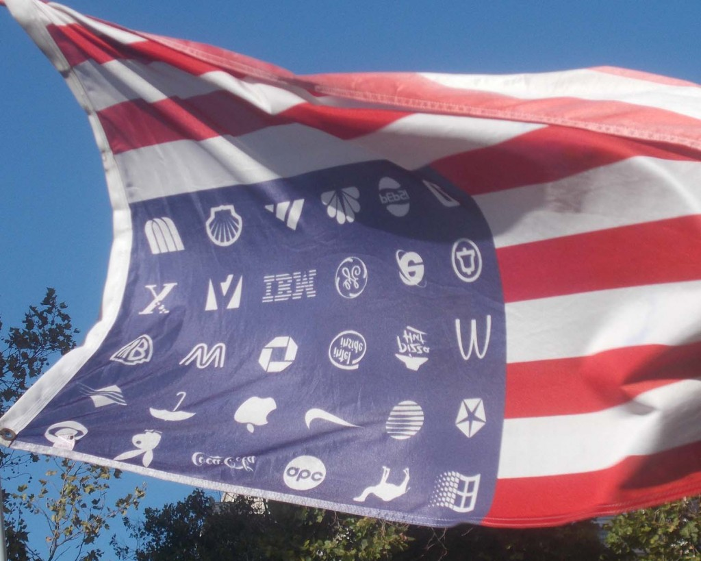 crop of inverted flag